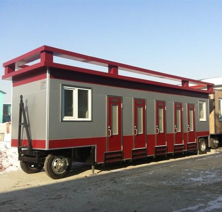 哈尔滨车载拖挂式移动厕所